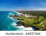 caribbean sea  from helicopter... | Shutterstock . vector #64057366