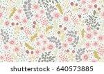 seamless folk pattern in small... | Shutterstock .eps vector #640573885