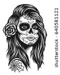 illustration of black and white ... | Shutterstock .eps vector #640581121