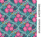seamless pattern with... | Shutterstock .eps vector #640584481