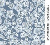 seamless floral vintage...   Shutterstock .eps vector #640586017