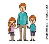 color crayon stripe cartoon... | Shutterstock .eps vector #640586455