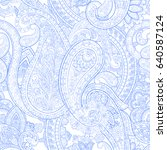 floral paisley pattern.... | Shutterstock .eps vector #640587124