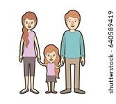 light color caricature thick... | Shutterstock .eps vector #640589419