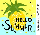 summer banner with fruit  place ... | Shutterstock .eps vector #640598149