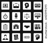 banking icons set in white...   Shutterstock . vector #640599295