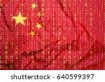 data protection  binary code... | Shutterstock . vector #640599397