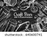 beer vector frame banner.... | Shutterstock .eps vector #640600741