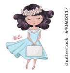cute girl vector design. | Shutterstock .eps vector #640603117