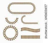 railroad tracks construction... | Shutterstock . vector #640603657