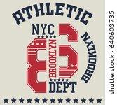 new york  typography fashion... | Shutterstock . vector #640603735