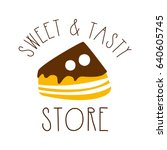 sweet and tasty store. colorful ... | Shutterstock .eps vector #640605745