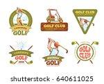 golf sports club  golf... | Shutterstock . vector #640611025