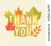 thank you headline with autumn... | Shutterstock .eps vector #640613695