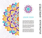 indian style colorful ornate... | Shutterstock .eps vector #640619815