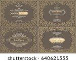 monogram creative cards... | Shutterstock .eps vector #640621555