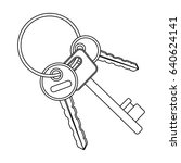 a bunch of keys from the cells... | Shutterstock . vector #640624141