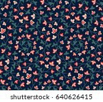 floral seamless pattern ... | Shutterstock .eps vector #640626415