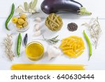 italian food ingredients on... | Shutterstock . vector #640630444