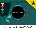vector abstract background for... | Shutterstock .eps vector #640630669