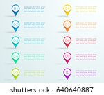 number bullet point markers 1... | Shutterstock .eps vector #640640887