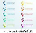 number bullet point markers 1... | Shutterstock .eps vector #640642141