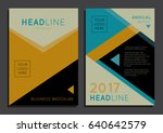 abstract geometric background... | Shutterstock .eps vector #640642579