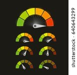 speed metering icon vector... | Shutterstock .eps vector #640643299