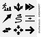forward icons set. set of 9...
