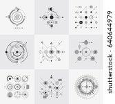 scientific bauhaus technology... | Shutterstock . vector #640644979