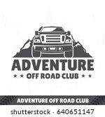 suv logo  travel icon  emblem... | Shutterstock .eps vector #640651147