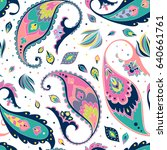 vector abstract paisley and... | Shutterstock .eps vector #640661761