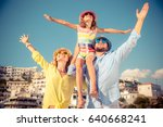 happy family traveling. people... | Shutterstock . vector #640668241