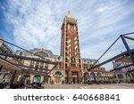 clock tower is located on... | Shutterstock . vector #640668841