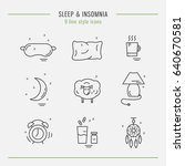 collection of isolated vector... | Shutterstock .eps vector #640670581