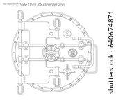 safe and vault door. vector... | Shutterstock .eps vector #640674871