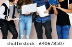 group of diverse high school... | Shutterstock . vector #640678507