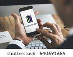 delete remove trash can... | Shutterstock . vector #640691689