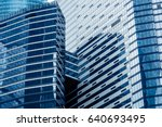 modern skyscrapers in a... | Shutterstock . vector #640693495