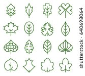 leaf icons. collection of... | Shutterstock .eps vector #640698064