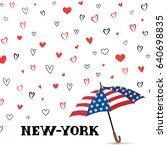 travel usa background. love new ... | Shutterstock .eps vector #640698835