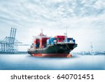 logistics import export... | Shutterstock . vector #640701451