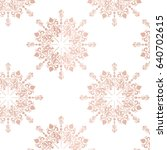 Rose Gold Large Floral Lace...
