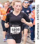 Small photo of England, Bristol - May 7, 2017: Marathon Runner Bria Grange, Simplyhealth Great Bristol 10k, Shallow Depth of Field