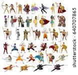 fighters warriors magic wizards ... | Shutterstock .eps vector #640707865