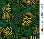 tropical background with palm... | Shutterstock .eps vector #640710631