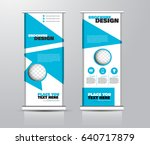 roll up vertical banner... | Shutterstock .eps vector #640717879