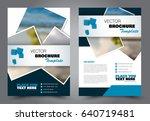 abstract flyer design... | Shutterstock .eps vector #640719481