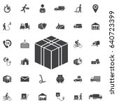 delivery box icon vector. set... | Shutterstock .eps vector #640723399