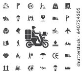 delivery moped icon. set of